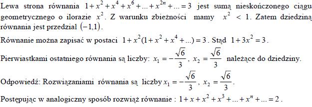 Suma ciągu geometrycznego