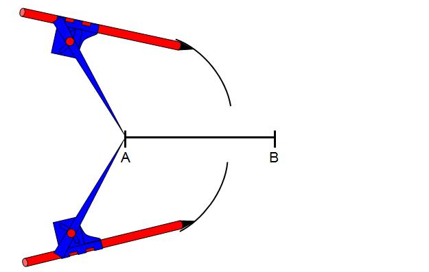 Symetralna odcinka pierwszy krok konstrukcji