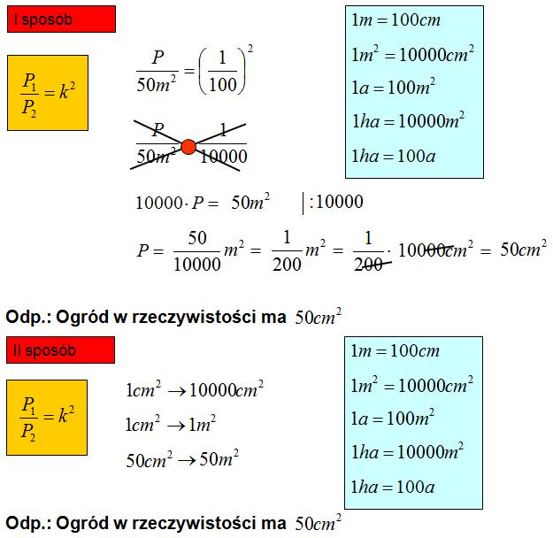 Pola figur podobnych zadania