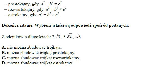 Warunki matematyczne na powstanie trójkąta