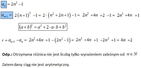 Sprawdzenie czy jest to ciąg arytmetyczny