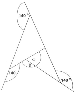 Kąty w trójkącie, katy przyległe