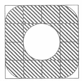 Okrąg wpisany w kwadrat, opisany na kwadracie