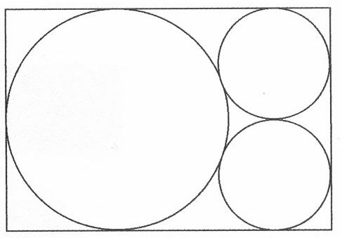 Koło, okrąg wpisany w prostokąt