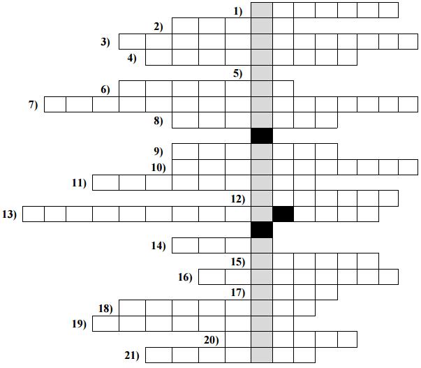 Krzyżówka matematyczna - zagadki