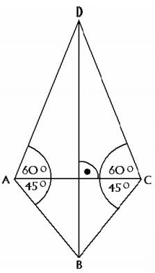 Trójkąt prostokątny o kątach 30,60,90 oraz 90,45,45.