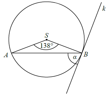 Okrąg styczny do prostej. Promień poprowadzony do punktu styczności.