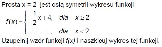 Funkcja określona przediałami