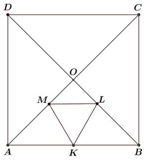 pole trójkąta i pole kwadratu