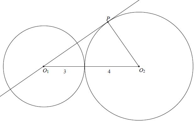 Okręgi styczne i twierdzenie Pitagorasa