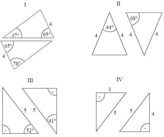 Przystawanie trójkątów, cechy przystawania