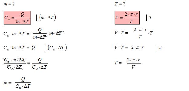 Przekształcanie wzorów fizyka