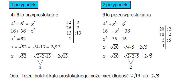 Twierdzenie odwrotne do Twierdzenia Pitagorasa