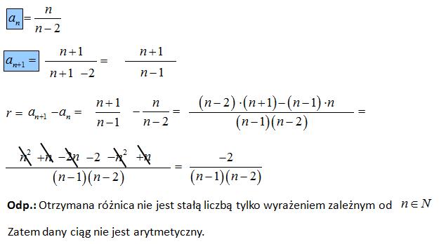 Zadanie na ciąg arytmetyczny