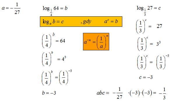 Wartość liczbowa logarytmu. Wykorzystanie definicji logarytmu