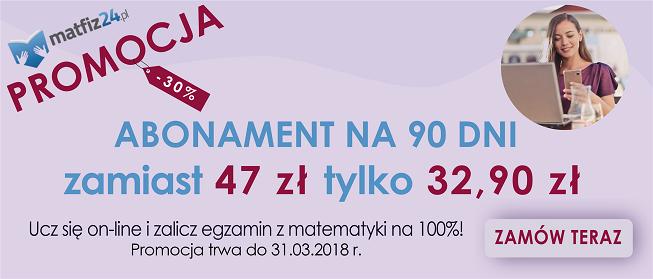promocja abonament matfiz24.pl