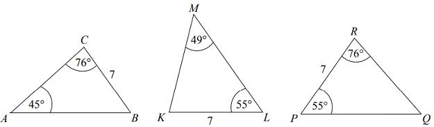 egzamin ósmoklasisty przystawanie trójkątów